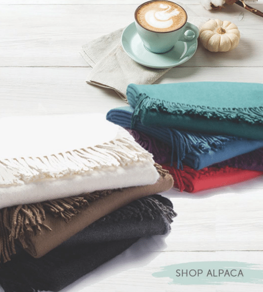 Sobel Westex alpaca blanket selection of varying colors