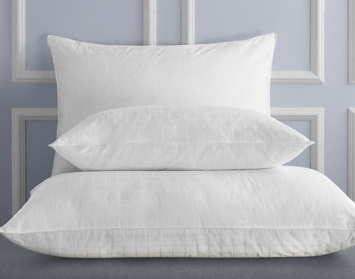 Sobel Westex luxury Sobella pillows displayed on hotel bed
