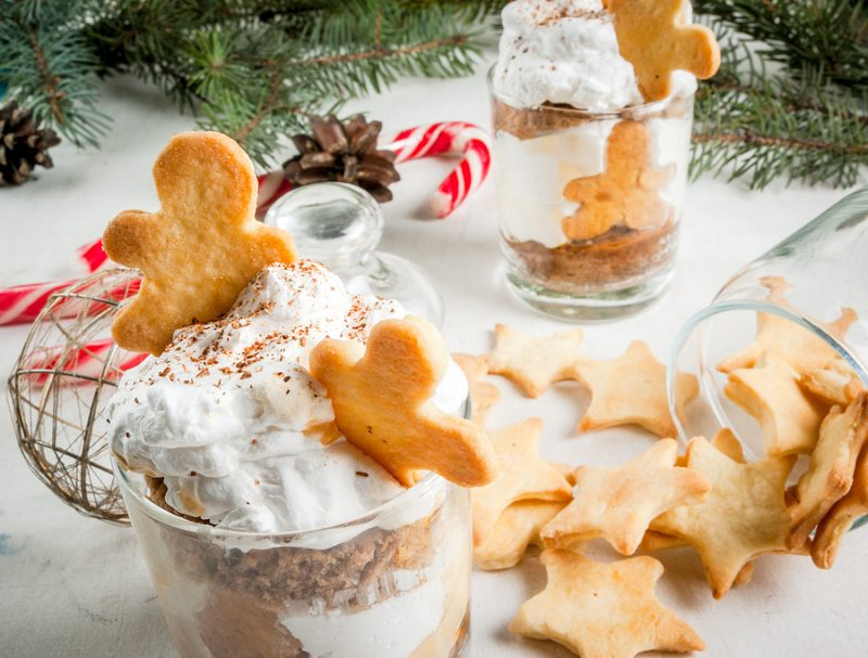 ginger trifle and cookies christmas treat