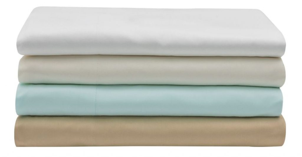Sobel Westex Sahara Nights Egyptian cotton sheets stacked in four colors