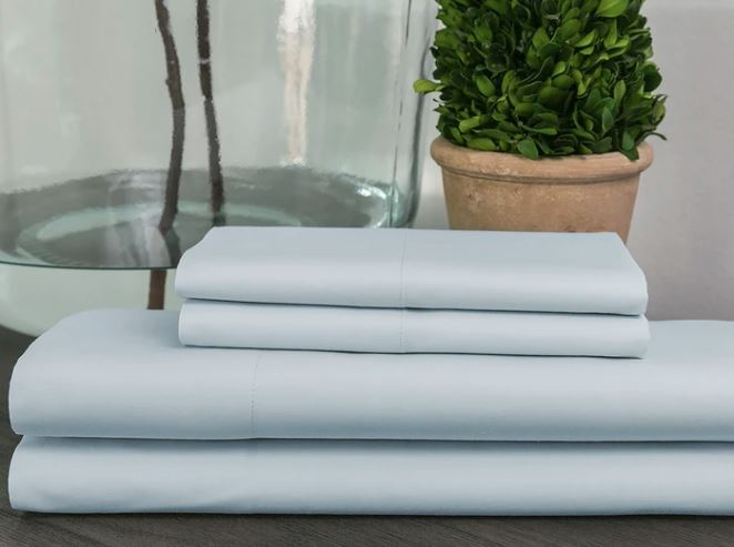 Sobel Westex 100% egyptian cotton sheet light blue