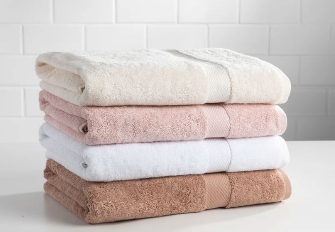 sobel westex pyramide excel towel set four colors stacked